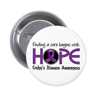 Cure Begins With Hope 5 Crohn's Disease Button