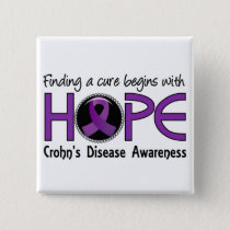 Cure Begins With Hope 5 Crohn's Disease Pinback Button