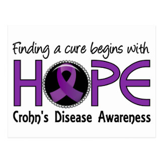Cure Begins With Hope 5 Crohn's Disease Postcard