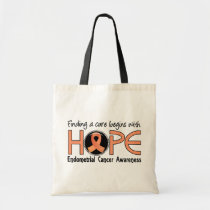 Cure Begins With Hope 5 Endometrial Cancer Tote Bag