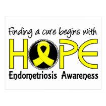 Cure Begins With Hope 5 Endometriosis Postcard