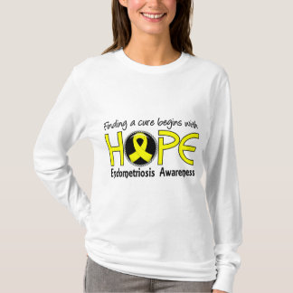 Cure Begins With Hope 5 Endometriosis T-Shirt