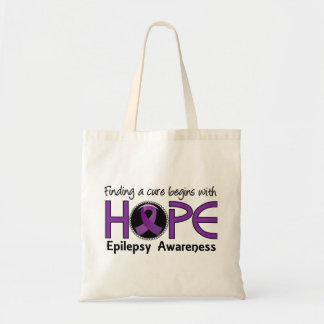Cure Begins With Hope 5 Epilepsy Budget Tote Bag