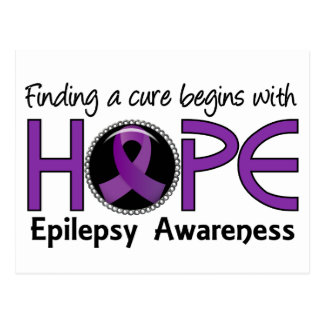 Cure Begins With Hope 5 Epilepsy Postcard