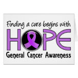 Cure Begins With Hope 5 General Cancer Cards