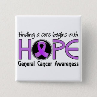 Cure Begins With Hope 5 General Cancer Pinback Button