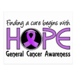 Cure Begins With Hope 5 General Cancer Post Card
