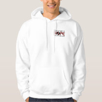 Cure Begins With Hope 5 Head and Neck Cancer Hoodie