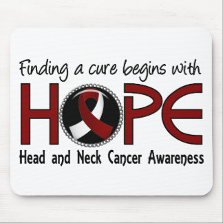 Cure Begins With Hope 5 Head and Neck Cancer Mouse Pad