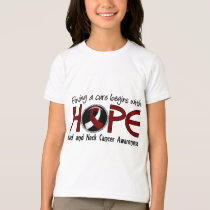 Cure Begins With Hope 5 Head and Neck Cancer T-Shirt