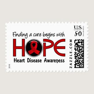 Cure Begins With Hope 5 Heart Disease Postage