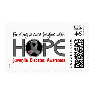 Cure Begins With Hope 5 Juvenile Diabetes Stamps