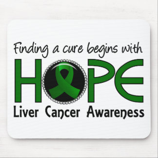 Cure Begins With Hope 5 Liver Cancer Mousepads