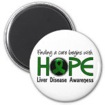 Cure Begins With Hope 5 Liver Disease Magnet