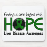 Cure Begins With Hope 5 Liver Disease Mousepad