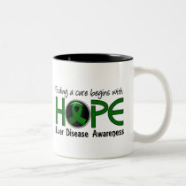 Cure Begins With Hope 5 Liver Disease Two-Tone Coffee Mug