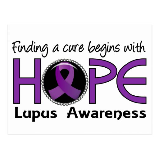 Cure Begins With Hope 5 Lupus Post Cards