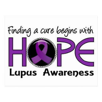 Cure Begins With Hope 5 Lupus Postcard