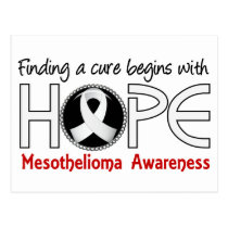Cure Begins With Hope 5 Mesothelioma Postcard