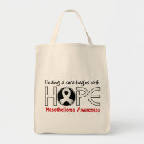 Cure Begins With Hope 5 Mesothelioma Tote Bag