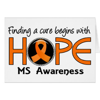 Cure Begins With Hope 5 MS Card