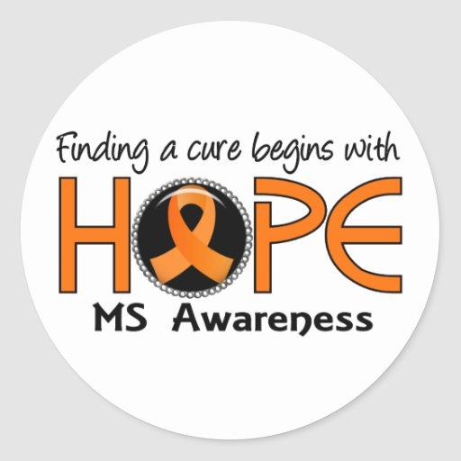 Cure Begins With Hope 5 MS Classic Round Sticker