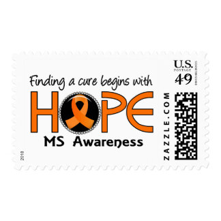 Cure Begins With Hope 5 MS Postage Stamp