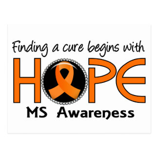 Cure Begins With Hope 5 MS Postcard