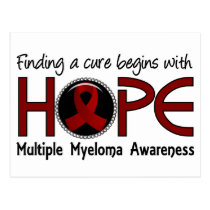 Cure Begins With Hope 5 Multiple Myeloma Postcard