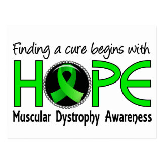 Cure Begins With Hope 5 Muscular Dystrophy Postcard