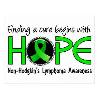 Cure Begins With Hope 5 Non-Hodgkin's Lymphoma Postcard