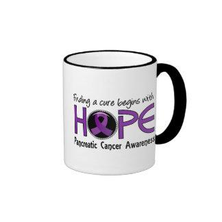Cure Begins With Hope 5 Pancreatic Cancer Ringer Coffee Mug