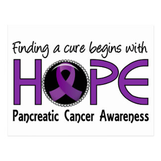 Cure Begins With Hope 5 Pancreatic Cancer Postcard