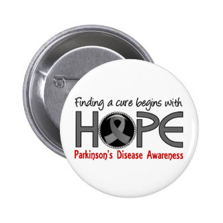 Cure Begins With Hope 5 Parkinson's Disease Pinback Button