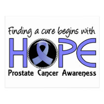 Cure Begins With Hope 5 Prostate Cancer Postcard