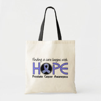 Cure Begins With Hope 5 Prostate Cancer Tote Bag