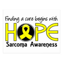 Cure Begins With Hope 5 Sarcoma Postcard