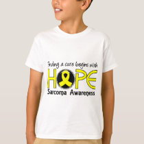 Cure Begins With Hope 5 Sarcoma T-Shirt