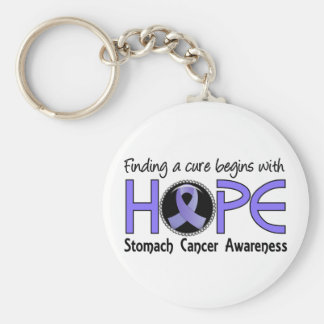 Cure Begins With Hope 5 Stomach Cancer Basic Round Button Keychain