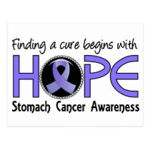 Cure Begins With Hope 5 Stomach Cancer Postcard