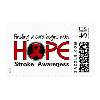 Cure Begins With Hope 5 Stroke Postage Stamps