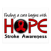 Cure Begins With Hope 5 Stroke Postcard