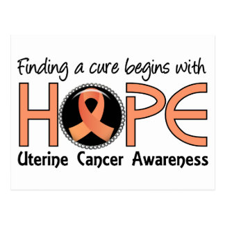Cure Begins With Hope 5 Uterine Cancer Postcard