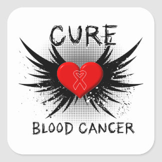 Cure Blood Cancer Square Stickers