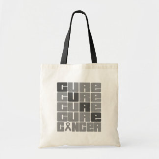 CURE Brain Cancer Collage Tote Bags