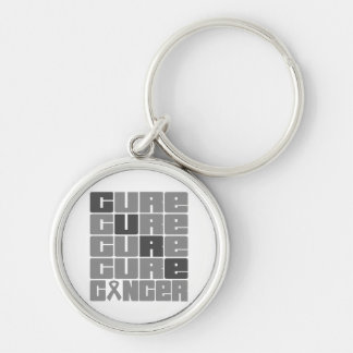 CURE Brain Cancer Collage Keychains