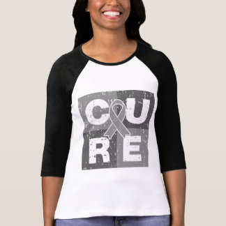 CURE Brain Cancer Distressed Cube T-shirts