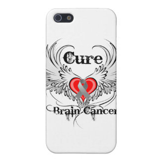 Cure Brain Cancer Heart Too Wings Case For iPhone 5