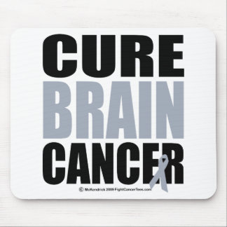 Cure Brain Cancer Mouse Pad
