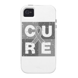 CURE Brain Tumor Distressed Cube iPhone 4/4S Case